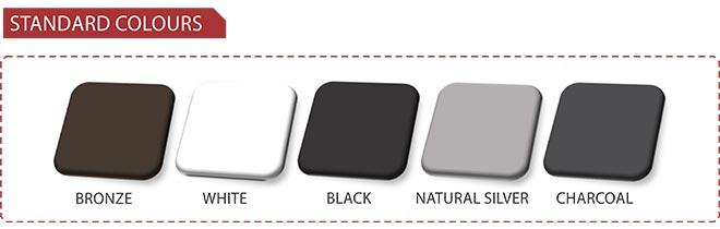 Aluminium Stardard Colours