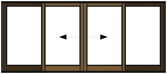 Van Acht Sliding Door Open Pane VSD4.0