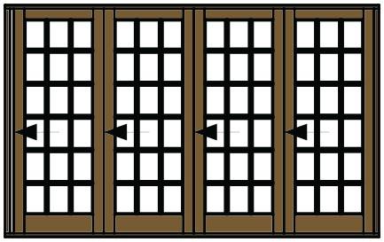 Van Acht Folding Door Small Pane VSF3390SP