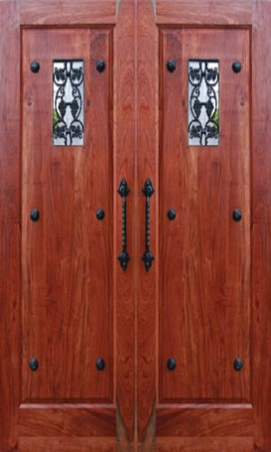 van acht custom entrance door