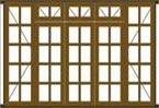 Van Acht Manor Windows Casement Type Small Pane