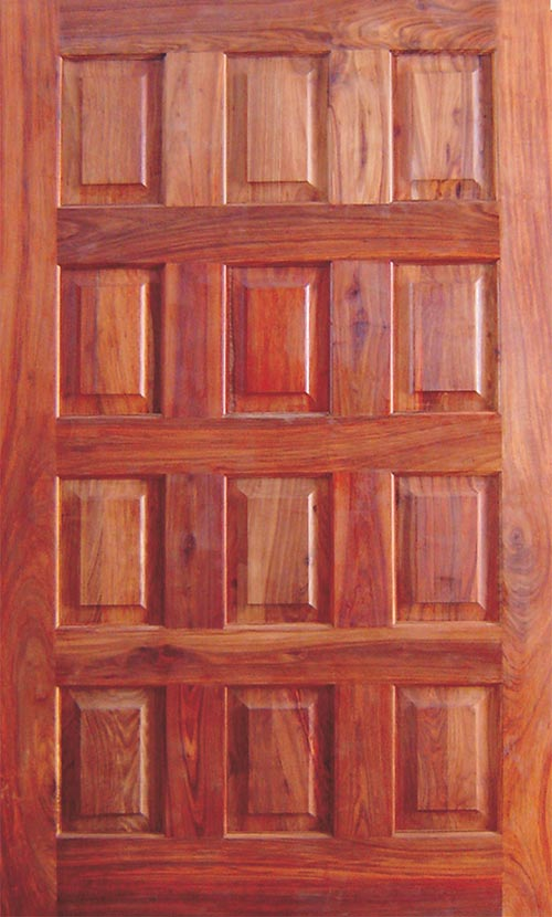 Van Acht African Hardwood Panel Pivot door