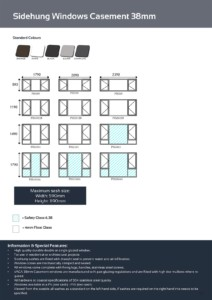 vanacht aluminium windows matrix and information 2018