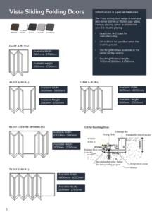 vanacht aluminium vista sliding folding doors matrix and information 2018